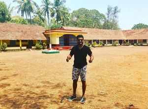 Rishab Shetty returns to give his adopted school a vibrant makeover