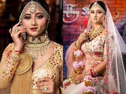 You can't miss TV star Rashami Desai's bridal photoshoot