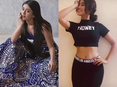 Shivangi flaunts her midriff in black top