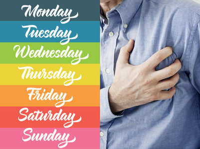 The day of the week when you are most likely to have a heart attack: Study