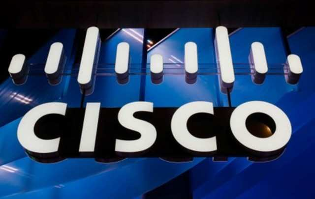 A logo of Cisco is seen during the Mobile World Congress in Barcelona, Spain February 27, 2018. REUTERS/Yves Herman