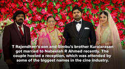 It's a starry reception for Kuralarasan and Nabeelah R Ahmed