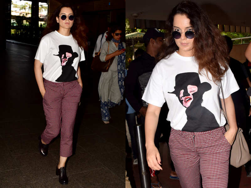 You can't miss Kangana Ranaut's chic airport look!