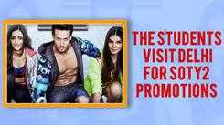 The students visit Delhi for SOTY2 promotions