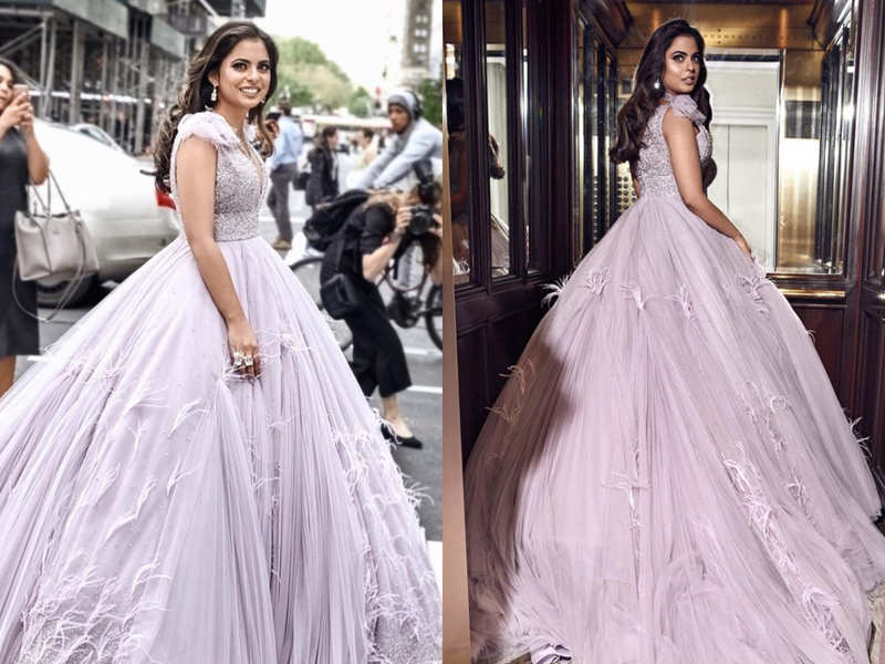 Isha Ambani's Met Gala gown took 350 hours to create