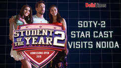 SOTY-2 star cast visits Noida