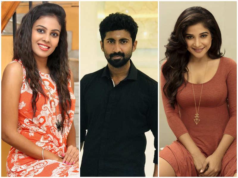 Mahendran, Sakshi Agarwal and Chandini Tamilarasan in Bigg Boss Tamil 3