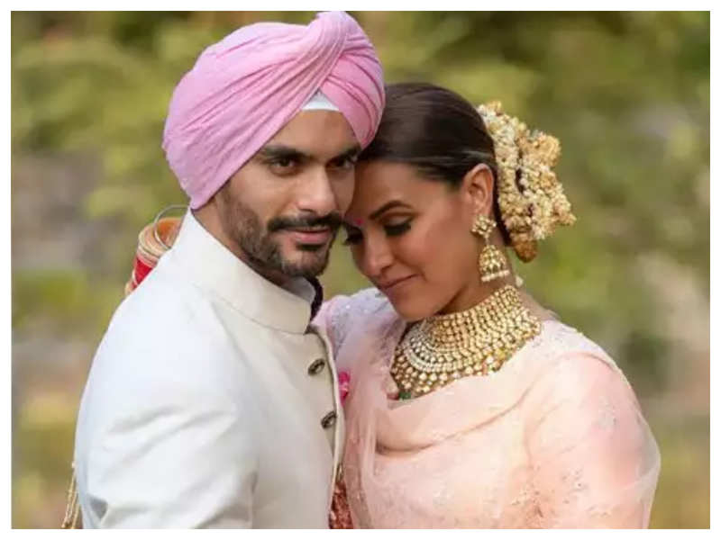 Unseen photos: When Neha Dhupia and Angad Bedi rocked their traditional wedding ceremony