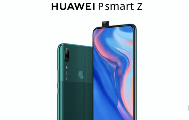 Huawei launches its first pop-up selfie camera smartphone Huawei P smart Z