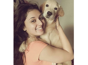 Checkout Mani Bhattachariya's adorable picture with her pet Bruno