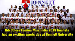 fbb Colors Femina Miss India 2019 had an exciting sports day at Bennett University
