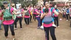 Watch: Mumbai mothers participate in flashmob workout