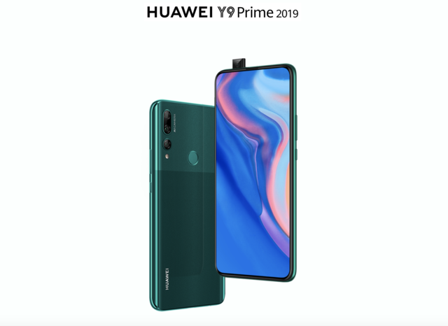 Huawei Y9 Prime (2019) with 16MP pop-up selfie camera, triple rear camera setup announced