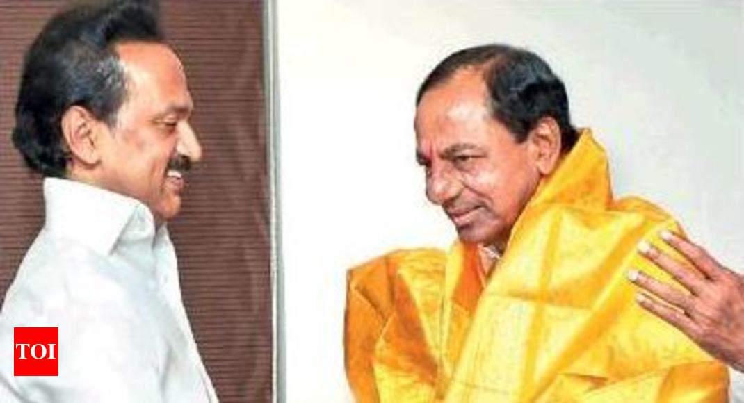 Don't lose sleep over KCR meet: Stalin to Naidu