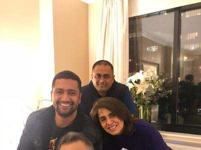 Vicky Kaushal meets Rishi Kapoor in the U.S.
