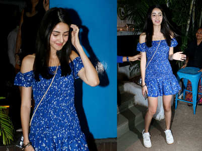 Ananya Panday's off-shoulder dress is perfect for summers