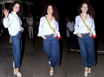 Pics: Kangana Ranaut leaves for Cannes 2019