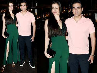 Arbaaz-Giorgia arrive style at Freddy's bash