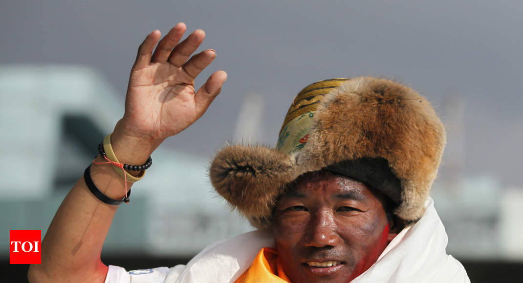 Sherpa scales Everest for 23rd time, sets world record