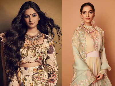 Meet the stylish wedding guests: Rhea and Sonam Kapoor