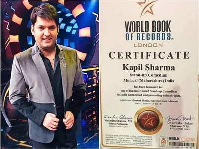 Kapil Sharma gets honoured