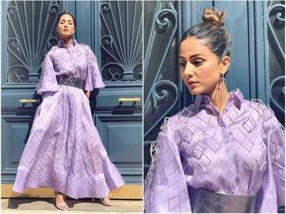 Hina goes simple yet classy at Cannes