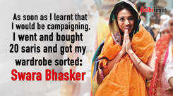 Swara Bhasker: As soon as I learnt that I would be campaigning, I went and bought 20 saris and got my wardrobe sorted.
