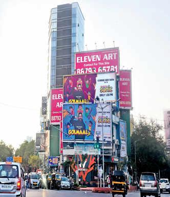 BMC begins stripping buildings of hoardings