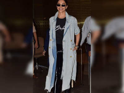 Deepika is all smile as she returns to Mumbai