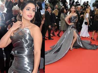 Hina owns Cannes red carpet in strapless gown