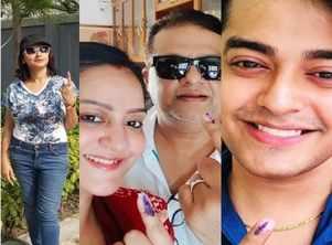 Lok Sabha election: TV celebs cast their vote