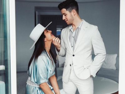 """My happiness begins with you, Nick Jonas,"" writes Priyanka Chopra"