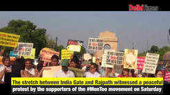 MenToo supporters protest for Men's commission at India Gate