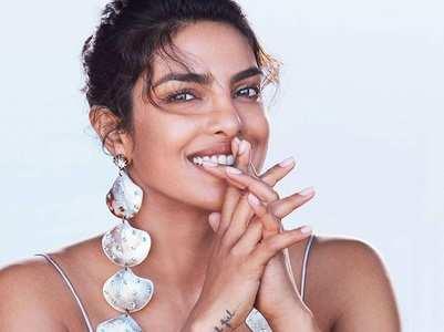 Priyanka tries to emulate Bella Hadid's pose