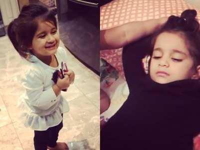 KV's baby girl Bella tricks sister Vienna