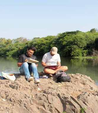 Pictures: Sketching along the banks of the Mula River in Pune