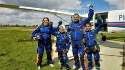 Meet the city's first skydiving family