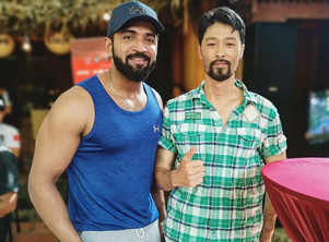 Arun Vijay trains with Johnny Tri Nguyen for 'Boxer'