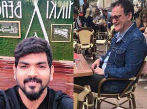 Vignesh ShivN has fanboy moment with Quentin Tarantino
