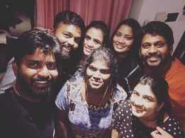 Anchor Manimegalai and other TV actors celebrate Ma Ka Pa Anand's birthday in style; see pics