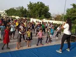 Punjabi tunes and garba fitness dance at Katora Talab