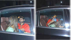 Sara Ali Khan hides her face as she's spotted holding hands with Kartik Aaryan