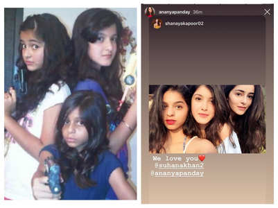 Ananya's cute birthday wish for Suhana