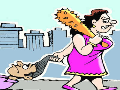 Wife beats husband for spying with detectives!