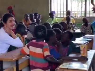 Priyanka visits refugee camp primary school