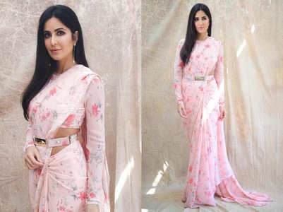 You can't miss Katrina's Sabyasachi sari