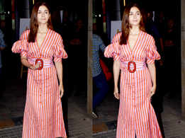 Alia Bhatt's looks cute as a button in this pink and red dress