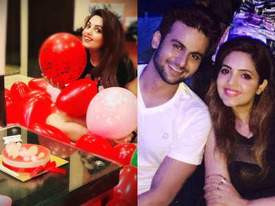 Sugandha celebrates birthday with Sanket