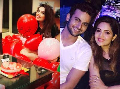 Sugandha celebrates birthday with Sanket
