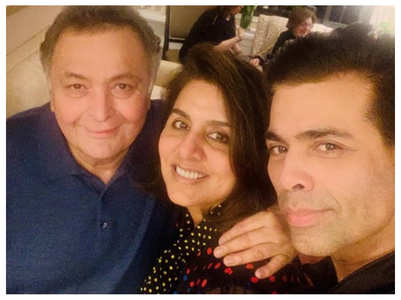 Pic: KJo catches up with Rishi-Neetu in NY